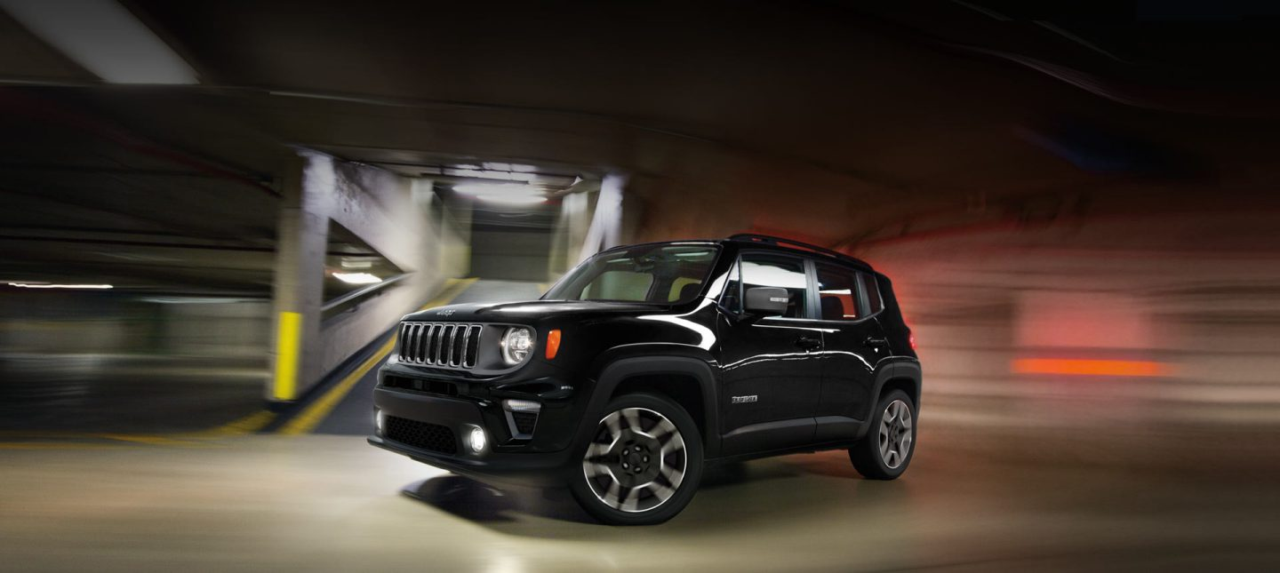 Exterior. The Jeep Renegade is a rare breed of truly distinctive styling. Its combination of off-road appeal and city-friendly design make it strikingly different from any other vehicle on the road. New for 2019 is a redesigned front fascia, new grille surrounds, wheels and updated headlamps.